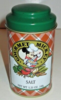 DISNEY GOURMET MICKEY MOUSE SALT TIN PROTOTYPE JOHN WAGNER SPICES NEVER PRODUCED for sale  Elkins Park