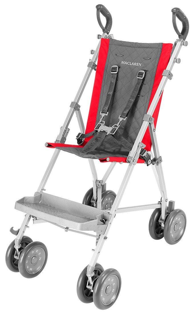 Купить Maclaren Major Elite - Maclaren Major Elite Special Needs Transport Push Chair Stroller Red Charcoal