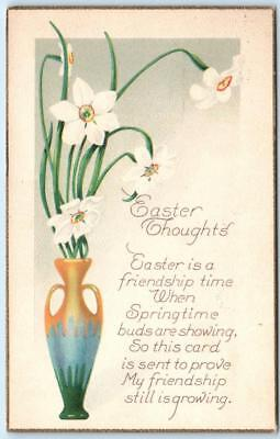 Easter Arts And Crafts (Arts and Crafts  EASTER THOUGHTS with Verse Gold Border  1924  )