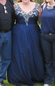 Navy blue prom dress size 18