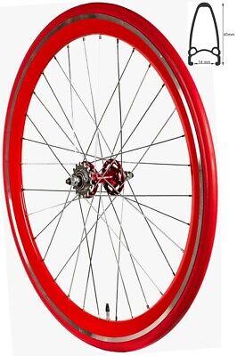 REDONDO 28 Zoll Hinterrad Singlespeed Fixie Laufrad Felge Rot Rot + Reifen, gebraucht gebraucht kaufen  Deutschland