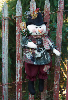 Original cloth pattern # 175 Hanging Snowman doll pattern by Bonnie B Buttons