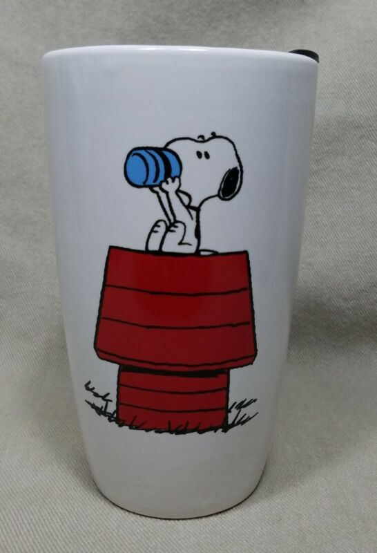 Snoopy Peanuts Ceramic Travel Mug with Lid