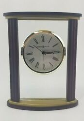 Howard Miller Tabletop Clock Wood & Glass Features with Quartz Movement 645-623