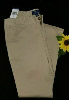 New Girls Polo Ralph Lauren pants chinos khaki school uniform classic fit size (Ralph Lauren Girls Pants)