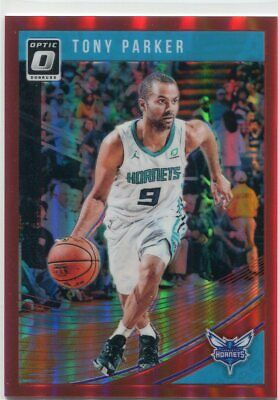 fe02d12f 2018-19 OPTIC PRIZMS RED /99 TONY PARKER CHARLOTTE HORNETS PRIZM PARALLELS