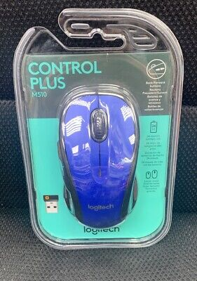 Logitech M510 Wireless Mouse - Blue NEW AND SEALED PRIORITY SHIPPING
