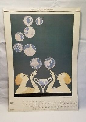 Erte 1988 Art Deco Calendar Pages (8) Vintage Prints incomplete