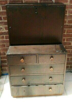 oak writing desk bureau upcycle