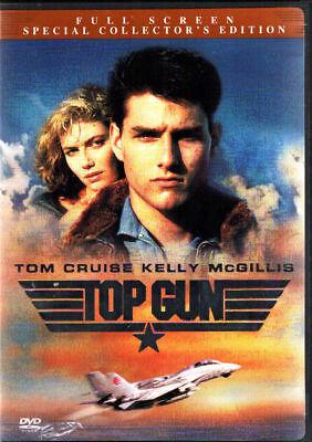 TOP GUN DVD TOM CRUISE KELLY McGILLIS VAL KILMER ANTHONY EDWARDS USN F-14 TOMCAT