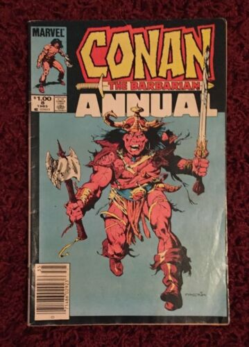 Conan the Barbarian Annual Vol 1 No. 8 1984 Edition Marvel Comics Dark Night VG
