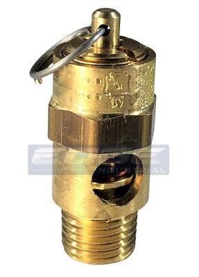 125 Psi Brass Safety Relief Pop Off Pressure Valve Compressor Tank 14 Npt