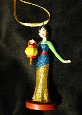 Disney Princess Mulan glittering Christmas Ornament Asian Dress with lantern