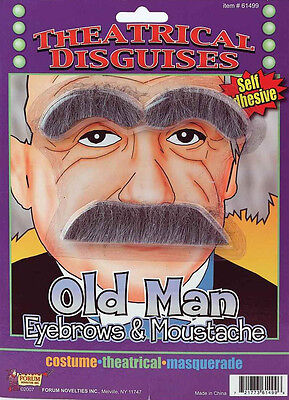 Theatrical Disguises Moustache Series - Old Man / Albert Einstein - Albert Einstein Mustache