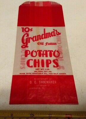 1930s Handbags and Purses Fashion Vtg 1930s? Grandma's Potato Chips O C Shoemaker Lehighton PA Advertising 10¢ Bag $9.99 AT vintagedancer.com