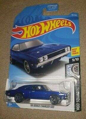 Hot Wheels Rod Squad '69 Dodge Charger 500 #9/10 80/250 Best for Track