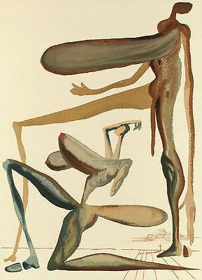 Salvador Dali Divine Comedy Purgatory Canto 21 (22): Prodigality, Wood Engraving
