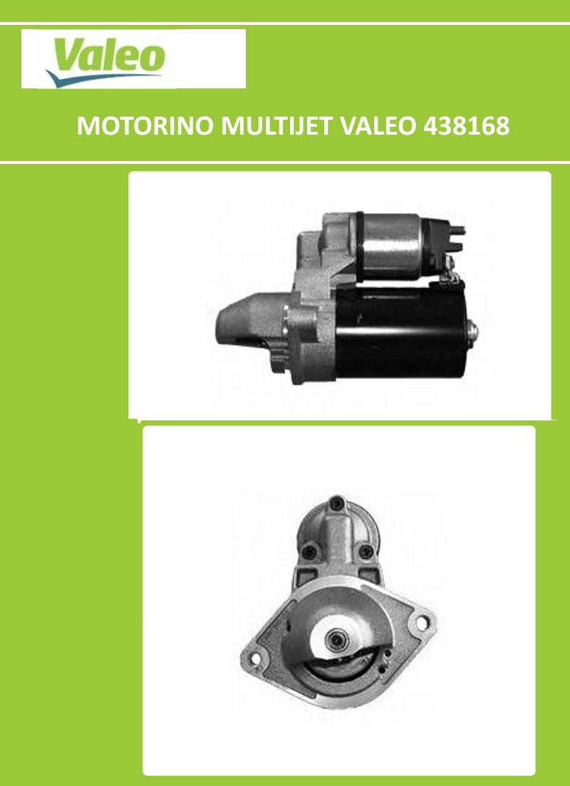 MOTORINO AVVIAMENTO VALEO FIAT PUNTO PANDA LANCIA ALFA ROMEO 1.3 MULTIJET 438168