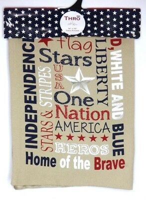 NEW Americana Patriotic 4th July Table Runner 14