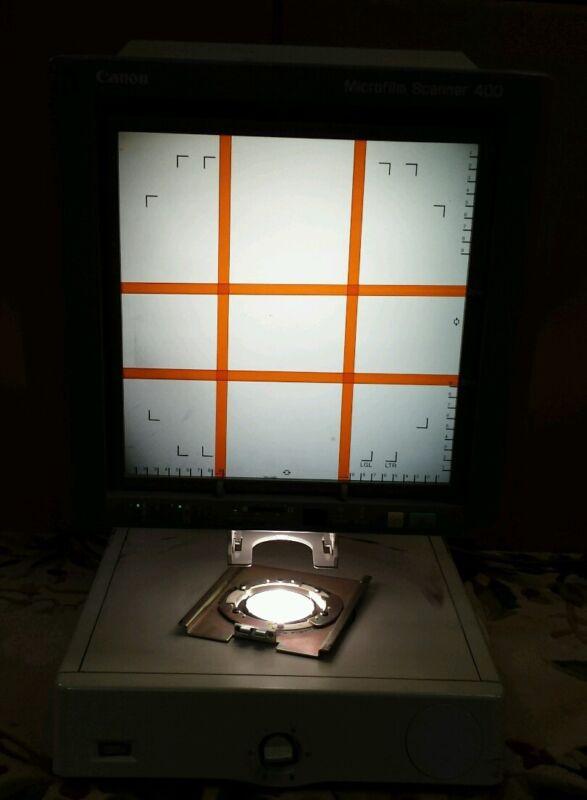 USED CANON MICROFILM SCANNER 400 MS Microfiche Reader Model M31019