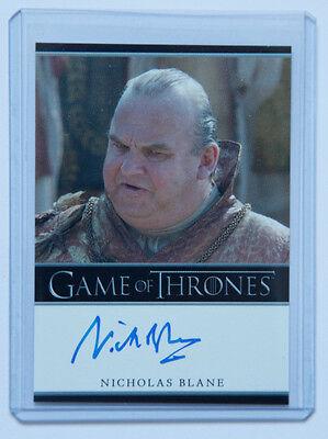 Game of Thrones Season 2 Nicholas Blane Spice King auto autograph card