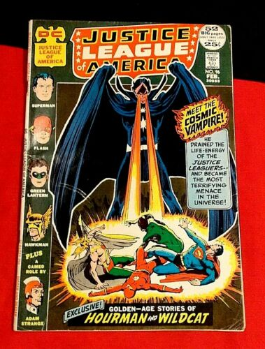JUSTICE LEAGUE OF AMERICA # 96 1ST APP STARBREAKER JLA HAWKMAN SUPERMAN 1972 DC
