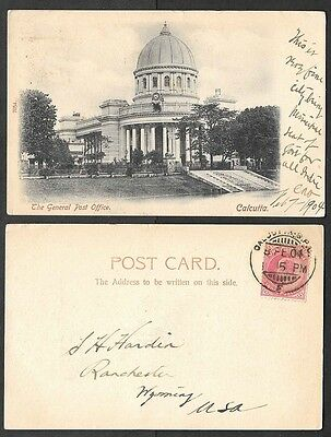 1904 India Postcard - Calcutta - The General Post Office