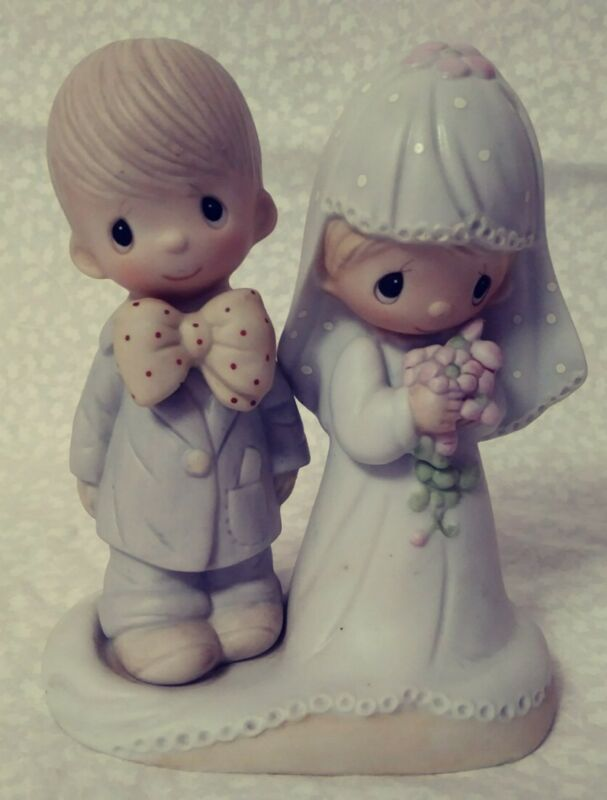 Precious Moments Jonathan & David The Lord Bless You And Keep You Figurine 1979