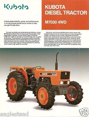 Farm Tractor Brochure - Kubota - M7030 - 1993 Fb594