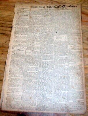 2 1814 War of 1812 newspapers BRITISH ATTACK NEW BEDFORD Massachusetts FAKE NEWS