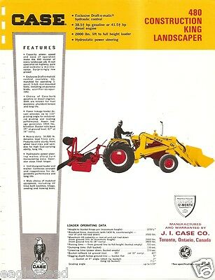 Equipment Brochure - Case - 480 Construction King Landscape - Tractor E1829