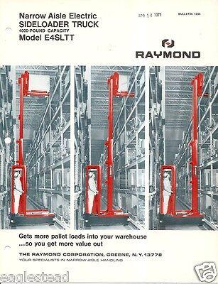 Fork Lift Truck Brochure - Raymond - E4sltt - Side Loader - 1969 Lt233