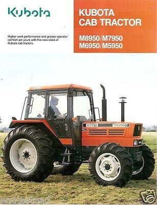 Farm Tractor Brochure - Kubota - M5950 M6950 M7950 M8950 Cab - 1992 Fb593