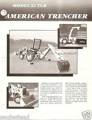 Equipment Brochure - American Trencher Bradco 32 Tlb - Backhoe Loader E2551