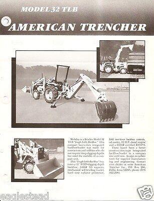 Equipment Brochure - American Trencher Bradco 32 Tlb - Backhoe Loader E2551