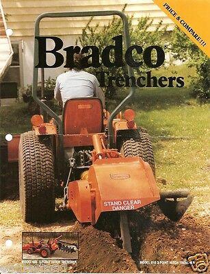 Equipment Brochure - Bradco - 605 635 Et Al -trencher - C1985 E2658