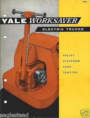 Fork Lift Truck Brochure - Yale - Worksaver Electric - C1956 Lt244