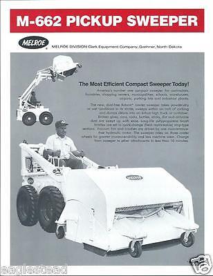 Equipment Brochure - Melroe - Bobcat - Sweeper Broom Grader Mixer Hammer E2202