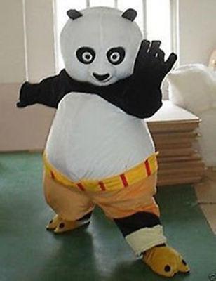 Kung Fu Panda Mascot Costume Fancy Adult Dress Halloween free shipping