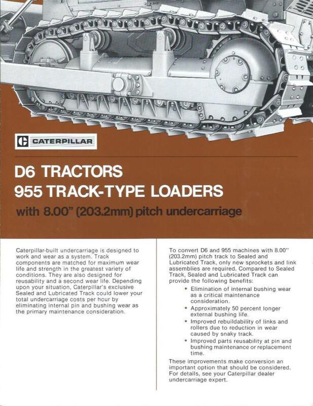 Equipment Brochure - Caterpillar - D6 955 - Sealed Lubricated Track  (E2735)
