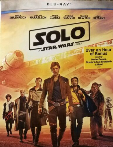 Solo - A Star Wars Story (Blu-Ray, 2018) w/SLIP COVER ***SEALED & FREE SHIP***