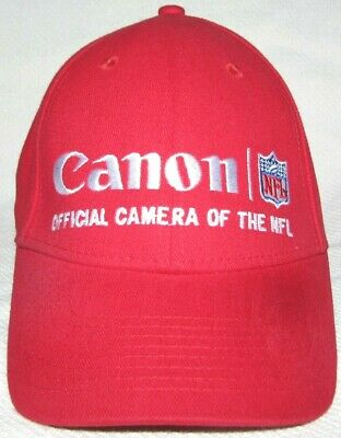 Canon Rebel Reebok Embroidered NFL Strap Back Hat Trucker Cap Red