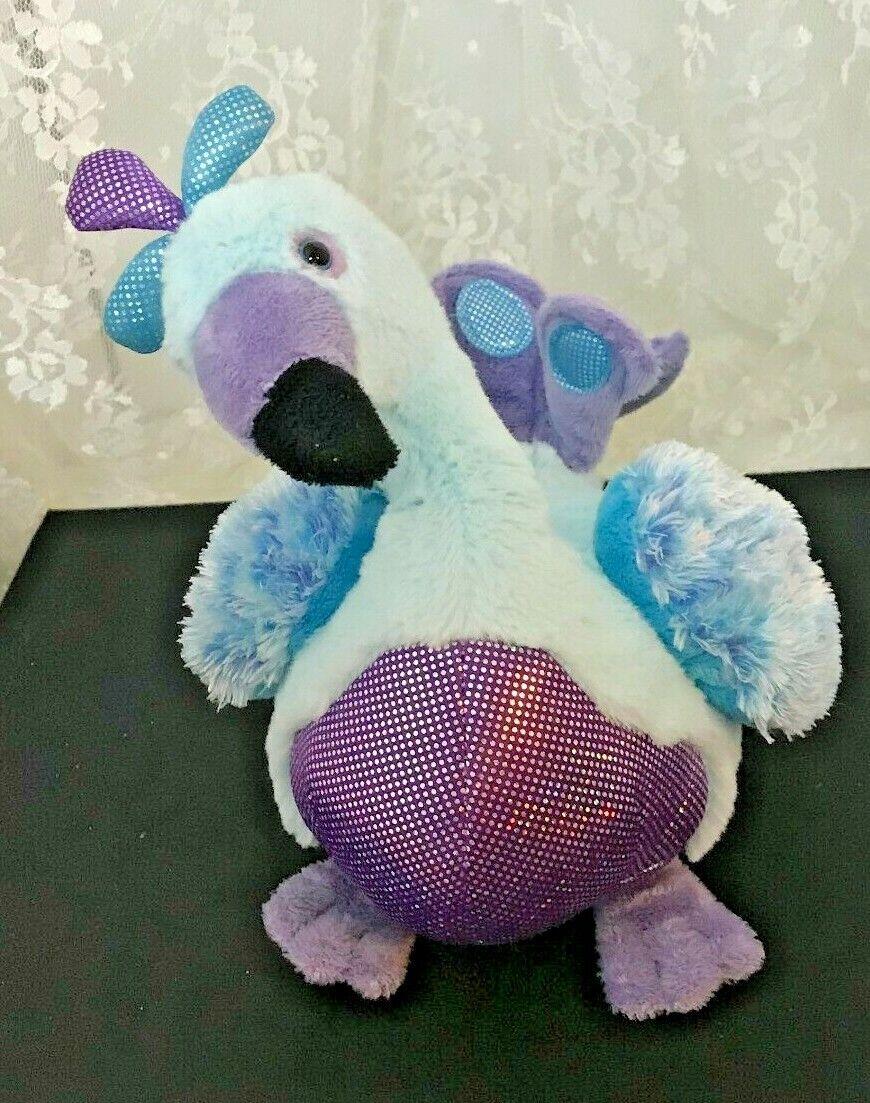 "GANZ Webkinz Blufadoodle Peacock HM453 Plush Toy 9"" Tall No Code"