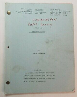 SWITCH / Larry Forrester 1977 TV Script, ROBERT WAGNER