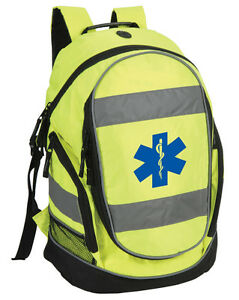 star of life hi vis sac dos travail sac ambulancier first responder ambulance ebay. Black Bedroom Furniture Sets. Home Design Ideas