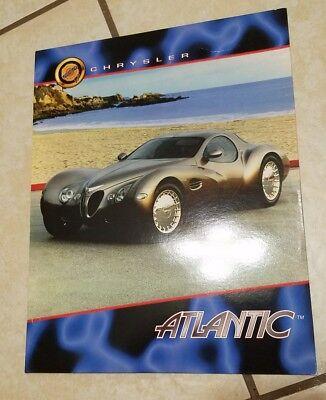 CHRYSLER ATLANTIC CONCEPT SHOW CAR BOOK PAPER FOLDER MOPAR