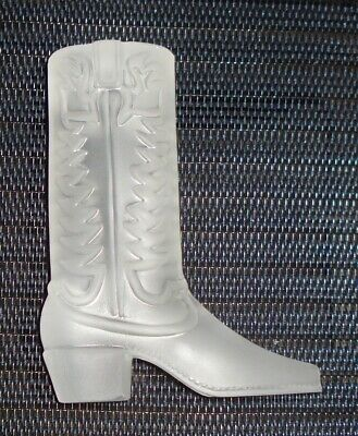 VINTAGE FROST GLASS BOOT FIGURINE PAPERWEIGHT BEAUTIFUL DESIGN (Designer Glasses Boots)