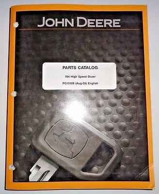 John Deere 764 High Speed Dozer Parts Catalog Manual Book 2009 Original Tractor