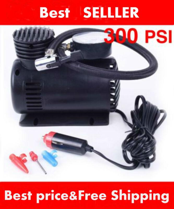 C 300 PSI 12V Car Pump Auto Portable Tire Inflator Mini Air Compressor w/gauge Y