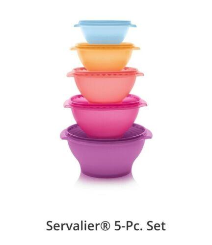 Tupperware Servalier Bowls 5 Pc Set NEW